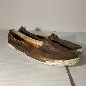 Frye melanie leather slip on sneakers size 10